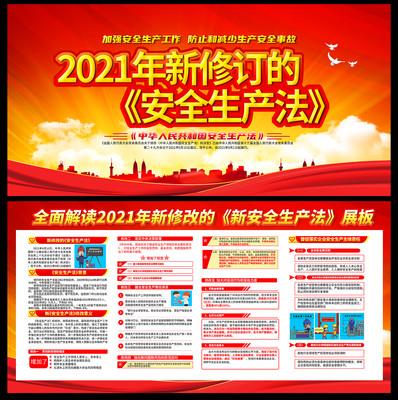 2021年新修改的安全生产法宣传展板