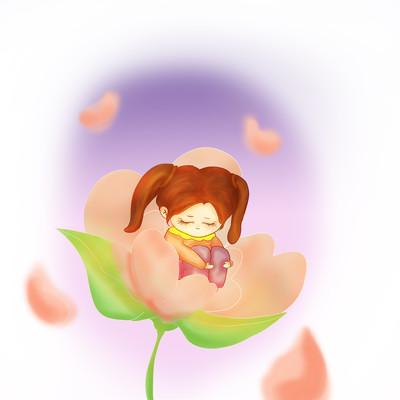 关爱自闭儿童花朵包裹