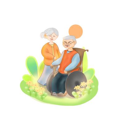 老人晚年温馨相伴