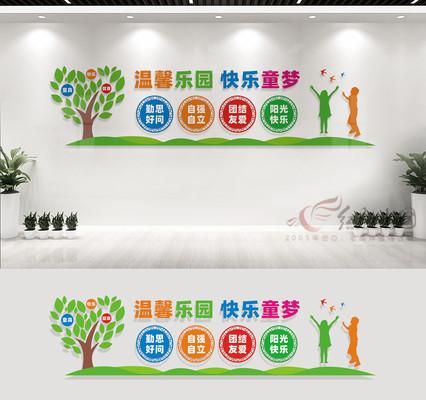 幼儿园文化墙宣传标语