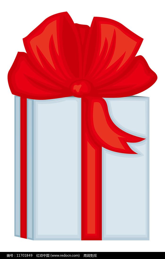 白色精美丝带礼物盒图片