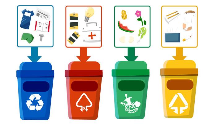 扁平垃圾分类分垃圾