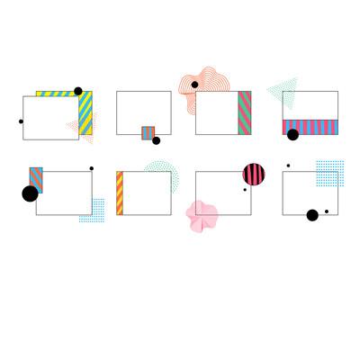 纯色版面双十一电商平面装饰