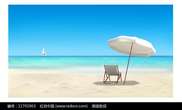 海滩场景图片