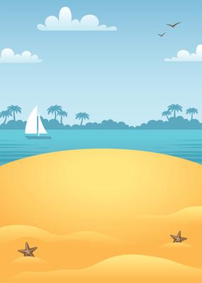 海滩上的场景图片
