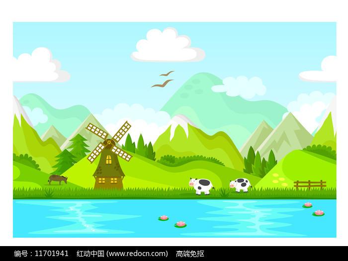江边的美丽风景图片