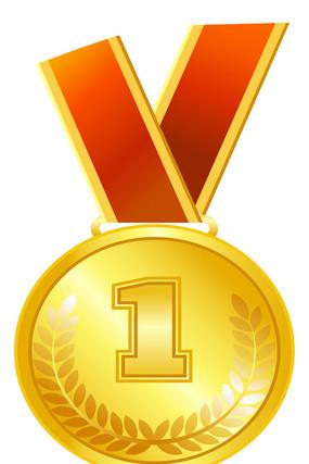金牌奖状元素