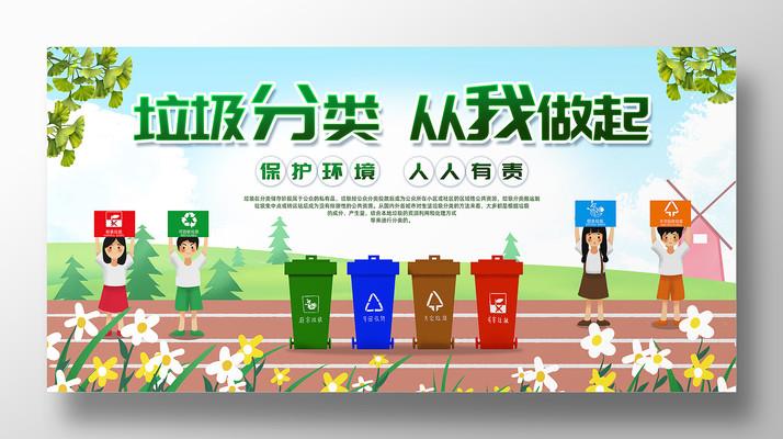 垃圾分類宣傳展板設計