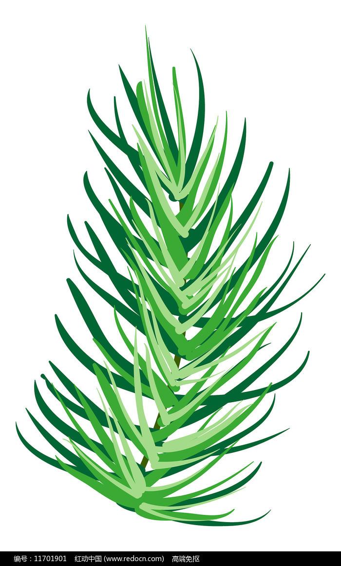 绿色树叶元素图片