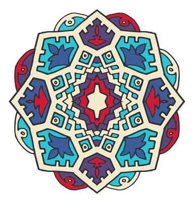 民族风古典花纹底纹