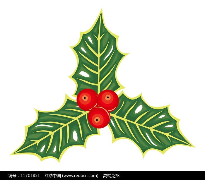圣诞果子元素图片