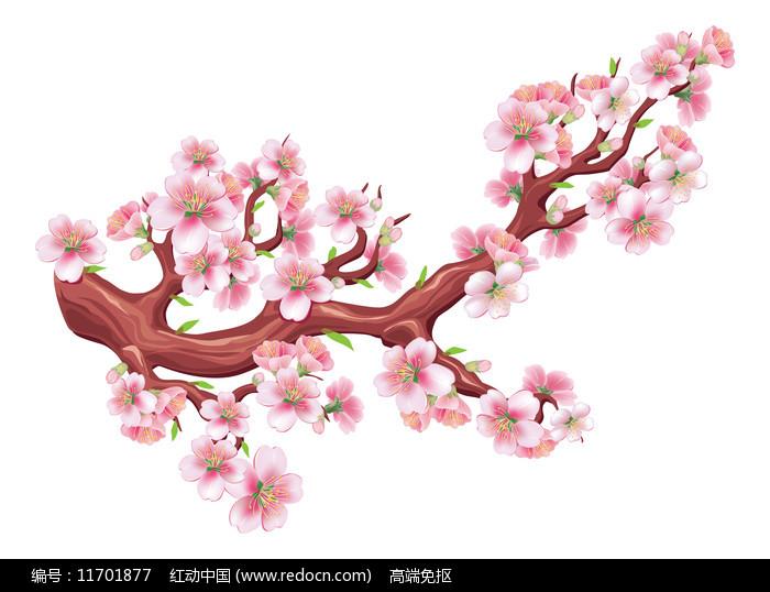 桃花元素图片