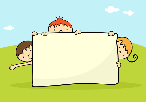 小孩画画框元素