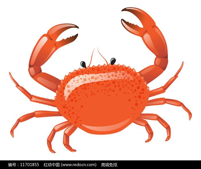 螃蟹元素图片