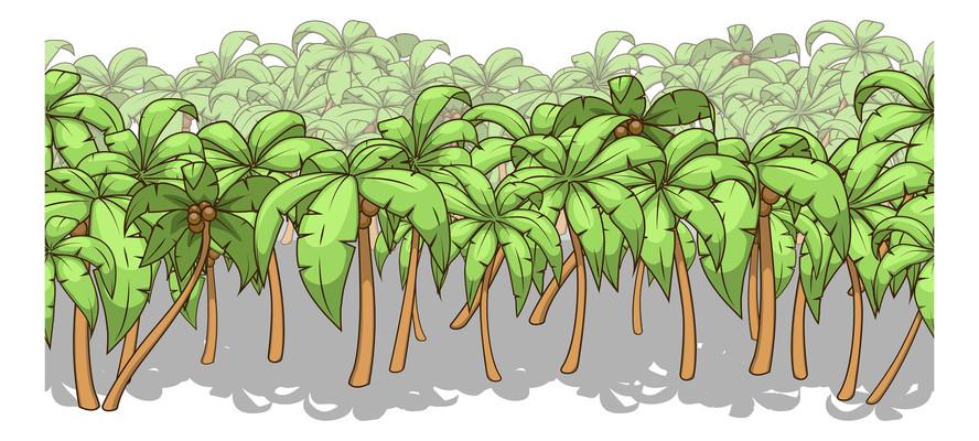 一片椰子树元素