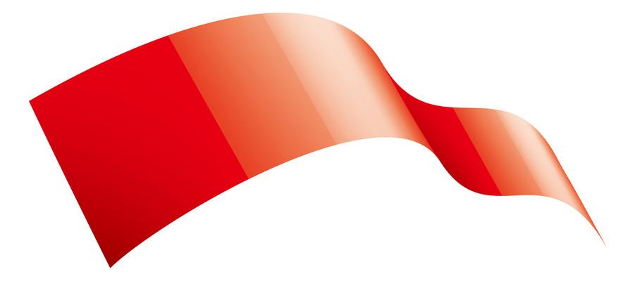 中国古风红绸丝带飘带