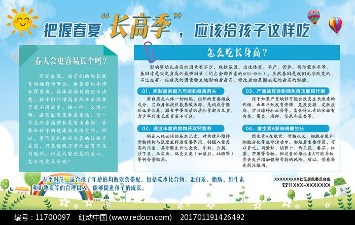 春季儿童展板医院医疗春季社区展板图片