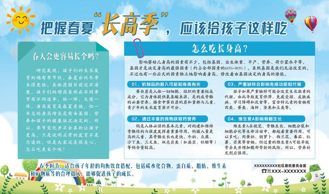 春季儿童展板医院医疗春季社区展板
