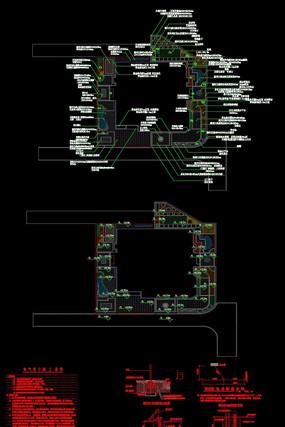 高端别墅别院景观CAD施工图设计