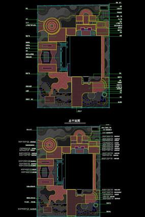 简中式现代并重别墅花园CAD施工图设计