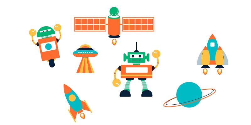 卡通外星人宇宙科技形象