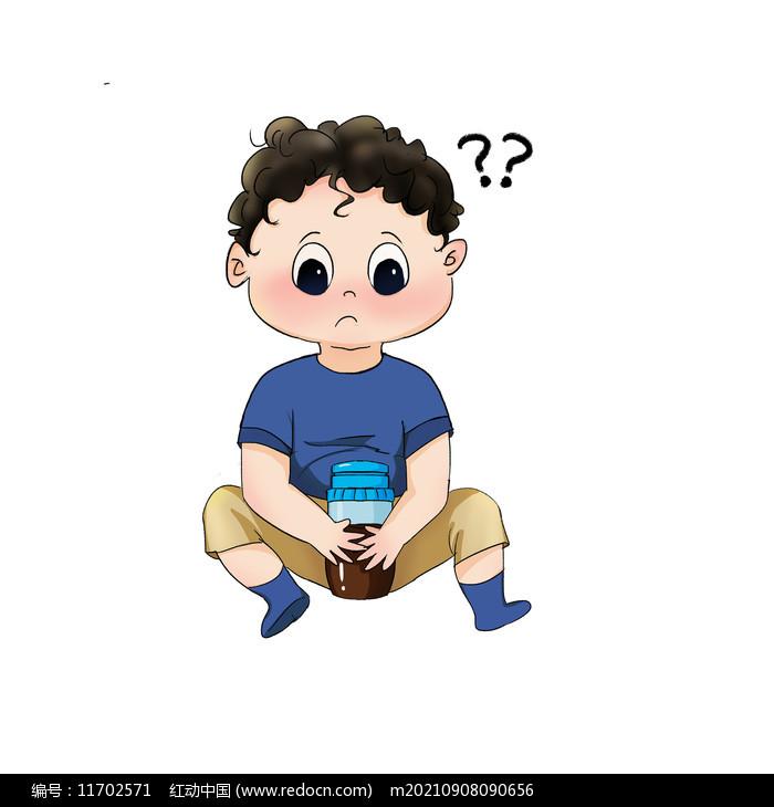 卡通问号的人儿童图片