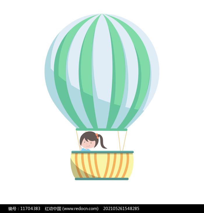 热气球儿童图片