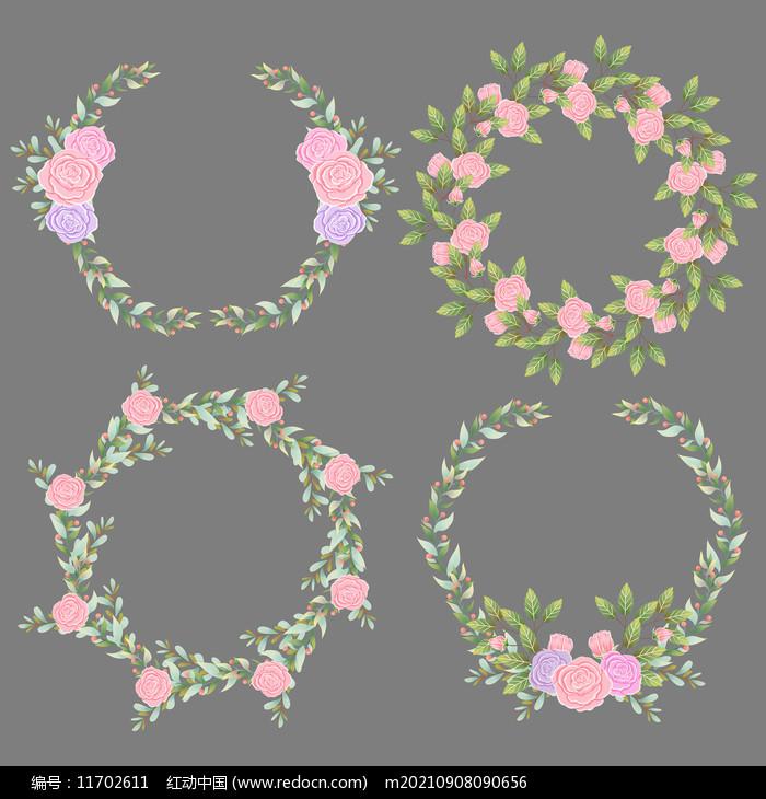 水彩花朵边框图片