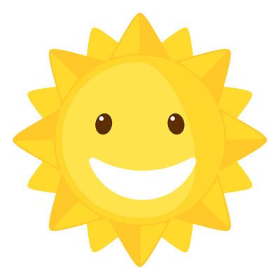 露齿笑的太阳