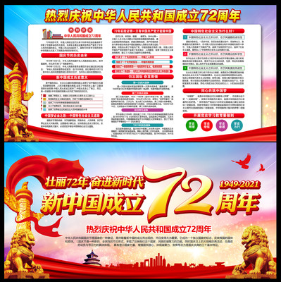 庆祝国庆72周年展板