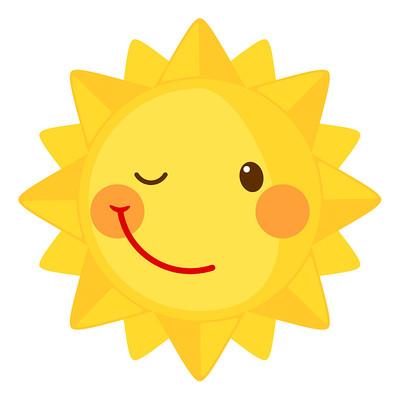 歪嘴笑太阳