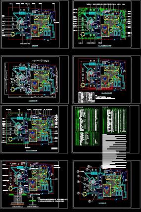 别墅庭院景观工程完整CAD施工图