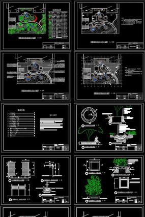 别墅庭院园林绿化工程施工图CAD设计