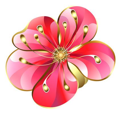 春季立体浮雕桃花