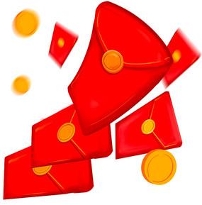 飞出一叠红包双十一红包