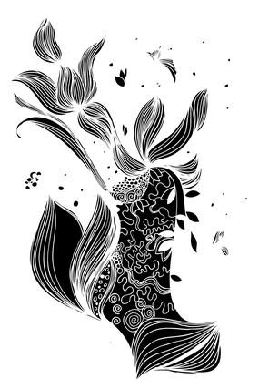 黑白风抽象画