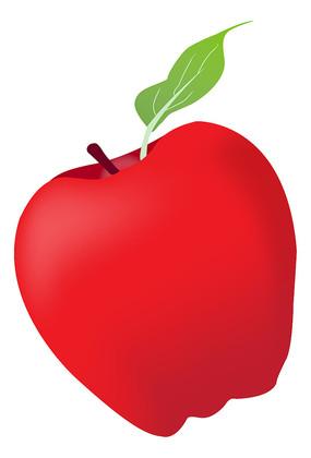 红色苹果矢量图