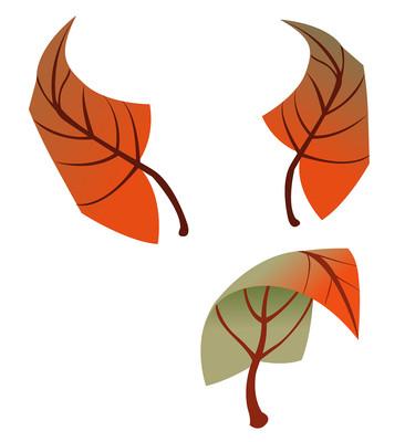卡通飘落的枫叶免抠元素