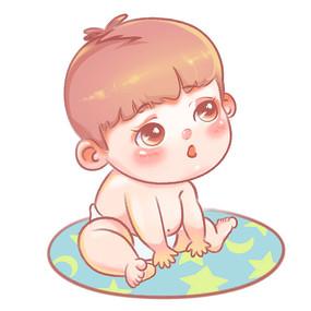 卡通婴儿女孩可爱