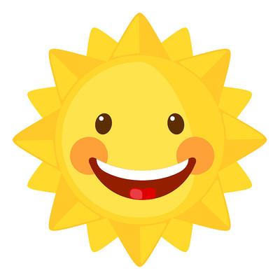 可爱表情的太阳公公