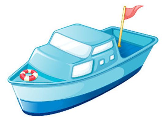 蓝色轮船元素