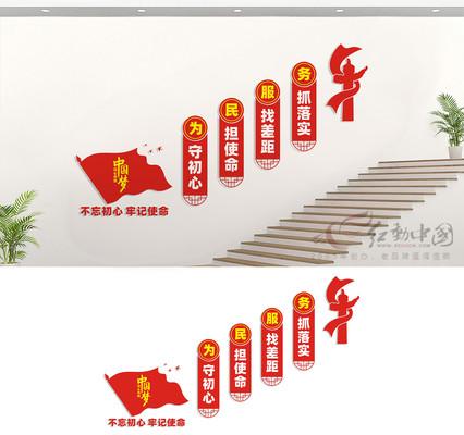 楼道党建文化墙展板