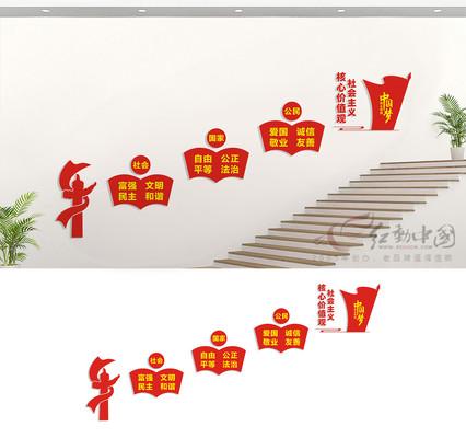 楼道核心价值观文化墙