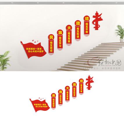 民族团结楼道文化墙