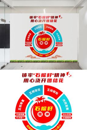 民族团结石榴籽精神文化墙设计