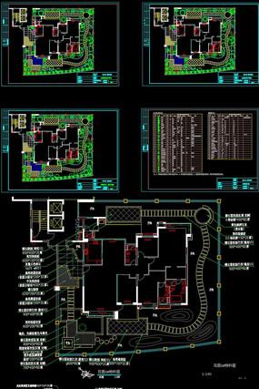 某小区豪宅花园景观设计园建CAD施工图