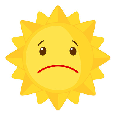 难过表情的太阳公公
