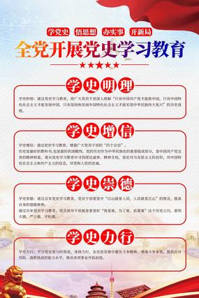 全党开展党史学习教育学党史海报