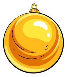 圣诞节黄色装饰球