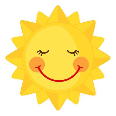 微笑表情的太阳公公
